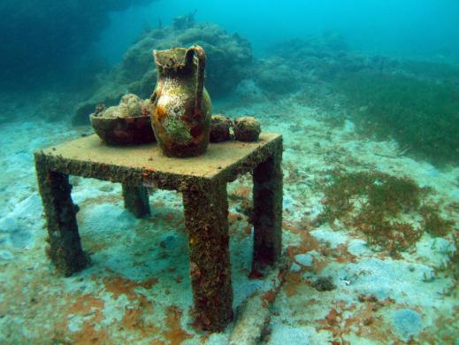 Isla Mujeres Musa esculturas bajo el mar mesa
