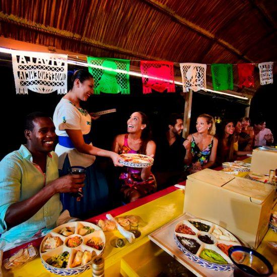 Xoximilco Cancún Comida