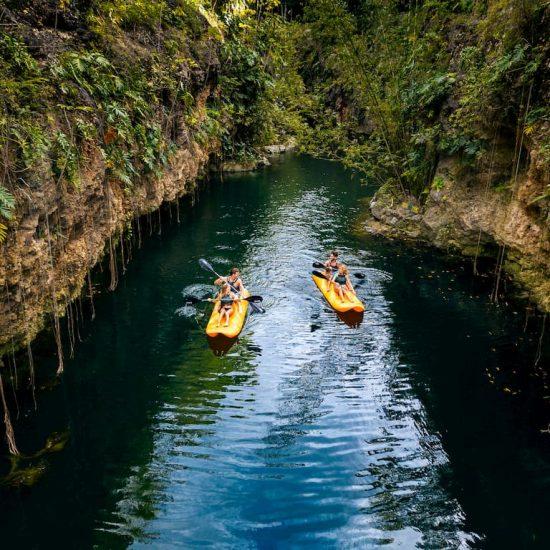 Circuito de Kayaks parque Xenotes