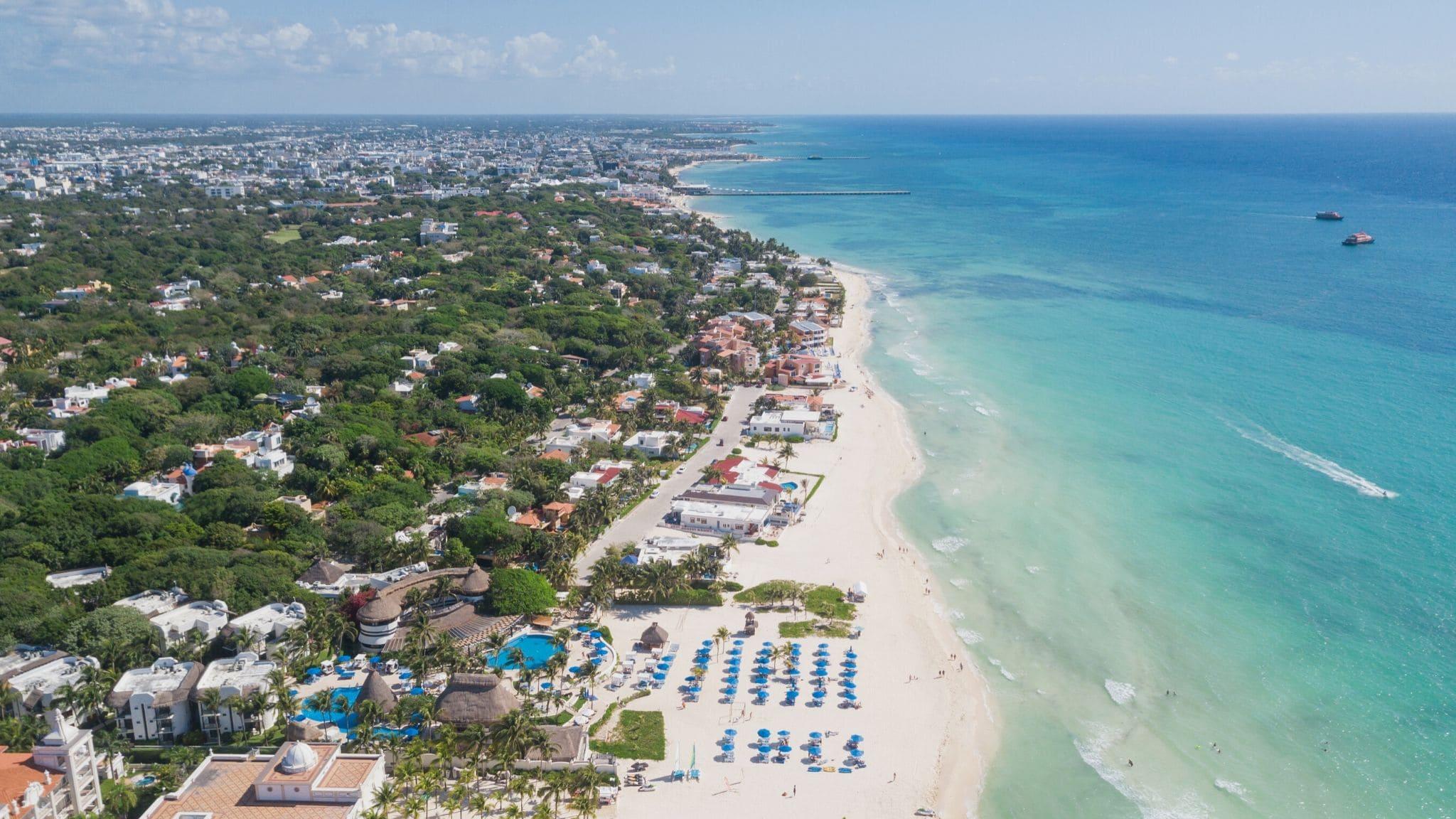 Playa del Carmen Foto de dron